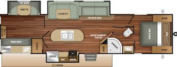 Travel Trailers With Bunk Beds Floor Plans Bunkhouses Starcraft Rv