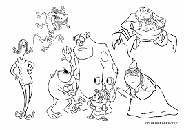 monster inc coloring pages coloring pages kids