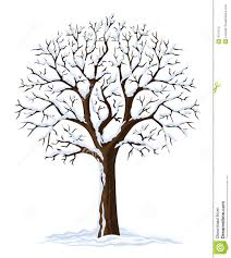vector silhouette winter tree stock photo image 4751970