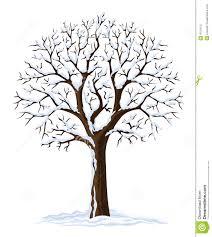 vector silhouette winter tree stock photo image 4751970