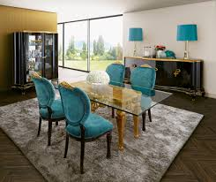 capri turquoise and gold dining room jetclass real furniture