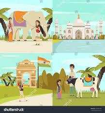 taj mahal garden layout india 2x2 design concept set gateway stock vector 713001034