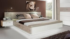 Schlafzimmer Bett Mit Led Rondino In Sandeiche Und Weiß Hochglanz Mit Led 180x200 Cm