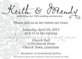 surprise 25th wedding anniversary invitations silver wedding