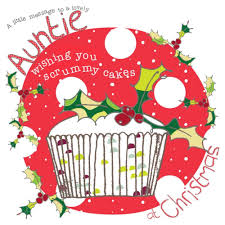 lovely auntie christmas card karenza paperie