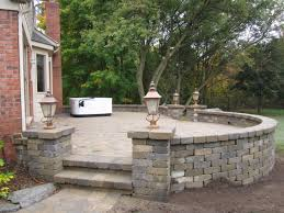 Raised Paver Patio Brick Pavers Canton Plymouth Northville Arbor Patio Patios