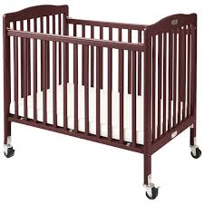 Mini Folding Crib L A Baby Cw 883a The Wood Crib 24 X 38 Cherry Mini