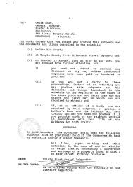 the subpoena to slater and gordon for the conveyancing and
