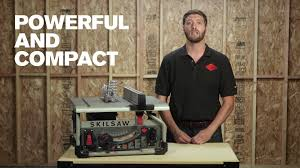 Skil 15 Amp 10 In Table Saw Skilsaw 10 In Portable Worm Drive Table Saw Spt70wt 22 Youtube