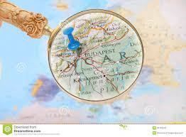 Budapest Hungary Map Looking In On Budapest Hungary Stock Photo Image 50763504