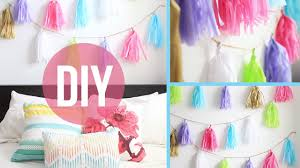 Anthropologie Room Inspiration by Diy Room Decor Anthropologie Inspired Garland Youtube