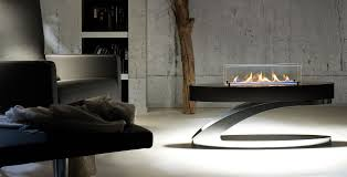 decor stylish freestanding ventless bio ethanol fireplace for