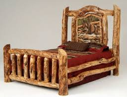 Log Queen Bed Frame Best 25 Log Bed Ideas On Pinterest Timber Bed Frames Tree Bed