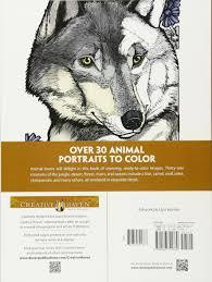 amazon creative haven wild animal portraits coloring book