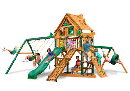 Costco Playground Furniture Gorilla Playsets Mountaineer Deluxe Wooden Swing Set
