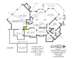 craftsman house plans with basement lakeview manor house plan house plans by garrell associates inc