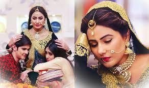 akshara wedding hairstyle oh no yeh rishta kya kehlata hai actress hina khan aka akshara