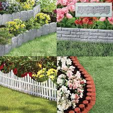 garden border lawn edging flexible plastic flower bed hammer in