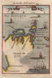 Solomon Islands Map Alvaro De Mendan A De Neira And Pedro Fernandes De Queirós