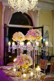 wedding table decorations candle holders 4 arms with flower bowl 80cm 31 4inch tall crystal candelabra candle