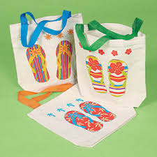 flip flop bag 24 flip flop bags party favor canvas tote lot luau pool summer