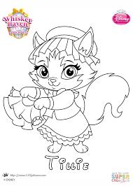 whisker haven tillie princess coloring page free printable