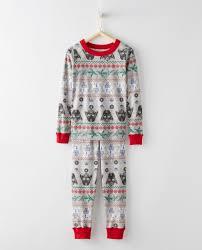 star wars long john pajamas in organic cotton