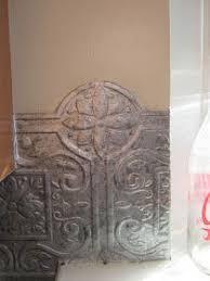 FakeIt Frugal Fake Punched Tin Backsplash Its Textured - Punched tin backsplash