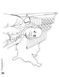 benjamin franklin and us flag coloring pages hellokids com