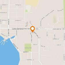 map of lake geneva wi burger king at 100 lake geneva wisconsin