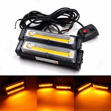 cob led light bar cyan soil bay beacon 36w cob led emergency hazard warning flash