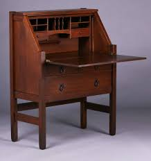stickley brothers dropfront desk california historical design