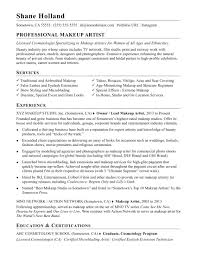 professional makeup artist certification makeup artist resume sle