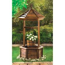 wholesale rustic wishing well planter wooden wishing well garden