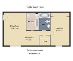 one bedroom townhomes floorplan the communities at middle branch apartments townhomes