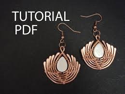 earrings tutorial wire wrap tutorial copper wire tutorial