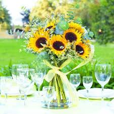 table centerpieces with sunflowers sunflower centerpiece collection costco one day pinterest