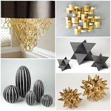 14 holiday amp home decor ideas using black white green and gold