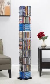 media folding rack tower dvd storage shelves home decor shelf