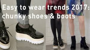 2017 fashion trends for women over 40 chunky shoes and boots