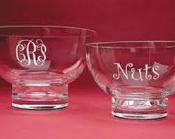 monogrammed serving dishes engraved bowl etsy