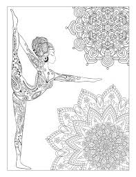 yoga and meditation coloring book for adults with yoga poses and