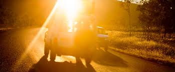 what to do if driving into the sun