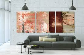 modern living room art abstract triptych painting for sale moment of glory large art