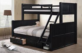Beatrice Black Extra Long Twin Over Queen Bunk Bed - Queen bed with bunk over