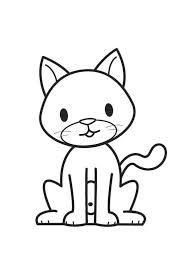 imágenes de gatos fáciles para dibujar imagen de un gatito para colorear infantil dibujos de gatos