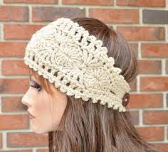 crochet headband crochet ear warmer handmade accessory womens crochet headband