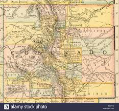 Colorado Map Images by Original Old Map Of Colorado From 1884 Geography Textbook Stock