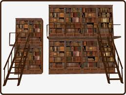 Classic Bookshelves - second life marketplace aleba classic bookcase stairs
