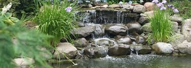 landscape water features backyard ponds michigan brick pavers